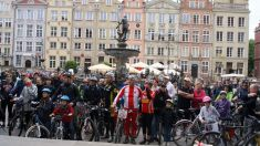 Start of the bike parade in the Old Town © City of Gdansk